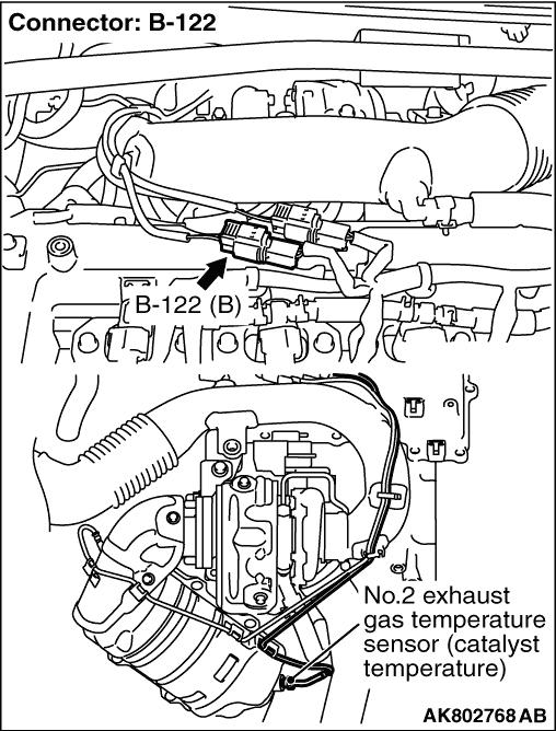 code no  p0428  no  2 exhaust gas temperature sensor