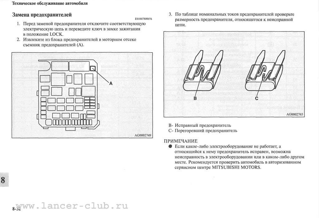 Руководство по эксплуатации Митсубиси Лансер Х (Mitsubishi Lancer X) .